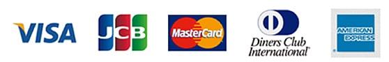 VISA JCB Master Card Diners Club International AMERICAN EXPRESS